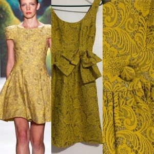 Tibi green floral embroidered dress